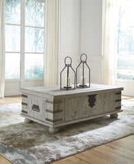 Carynhurst - White Wash Gray - Lift Top Cocktail Table