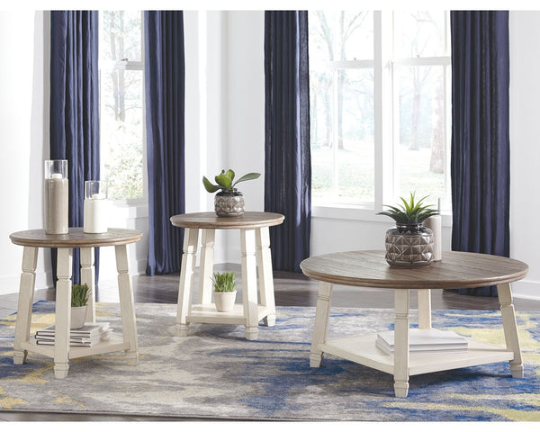 Bolanbrook - Two-tone - Occasional Table Set (3/CN)