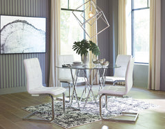 Madanere Table & 4 White Side Chairs