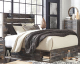 Drystan Brown Queen Panel Bed w/2 Side Storage