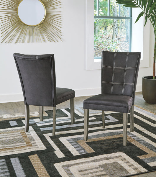 Dontally - Two-tone - Dining UPH Side Chair