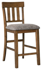 Flaybern - Brown - Upholstered Barstool