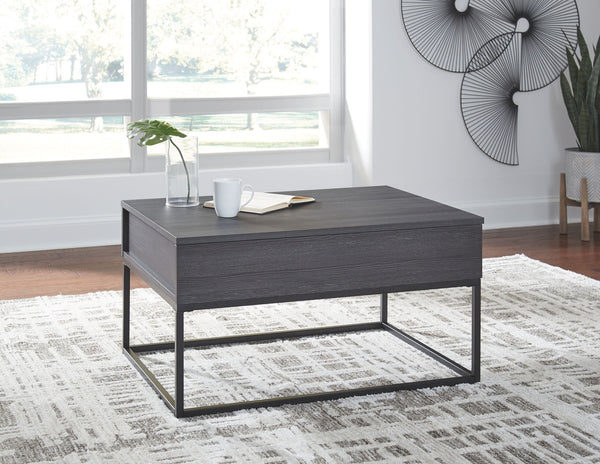 Yarlow - Black - Lift Top Cocktail Table