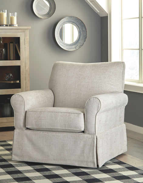 Searcy - Quartz - Swivel Glider Accent Chair