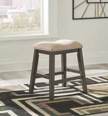 Rokane - Light Brown - Upholstered Stool