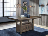 Johurst - Grayish Brown - RECT Dining Room Counter Table
