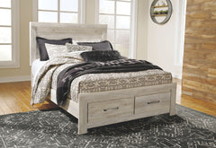 Bellaby Whitewash Queen Storage Bed