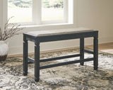 Tyler Creek - Antique Black - DBL Counter UPH Bench (1/CN)