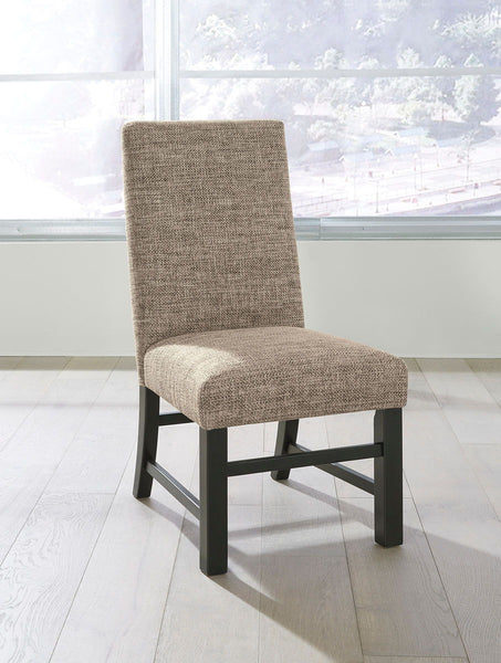 Sommerford - Black/Brown - Dining UPH Side Chair