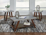 Bellenteen - Brown/Silver - Occasional Table Set (3/CN)