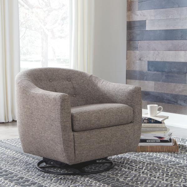Upshur - Taupe - Swivel Glider Accent Chair