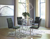 Madanere Table & 4 Black Side Chairs