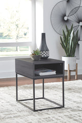 Yarlow - Black - Rectangular End Table
