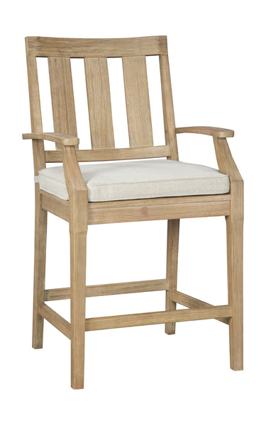 Clare View - Beige - Barstool with Cushion