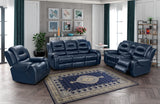 Shop vogue Vogue Golden Navy Recl. Sofa & Recl. Loveseat - Online Exclusive at  Raley's Home Furnishing