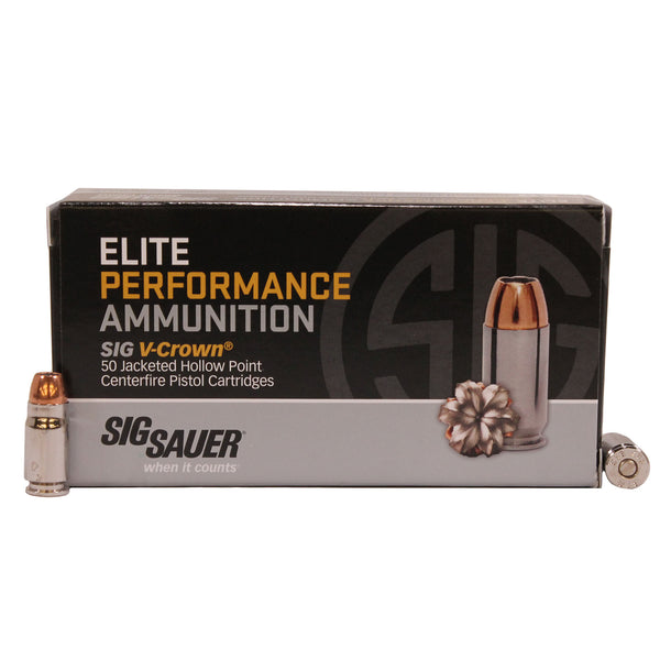 357SIG, 125GR, ELITE V-CROWN, JHP, BOX-50
