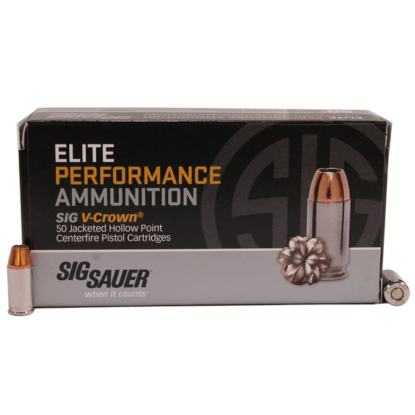 380AUTO, 90GR, ELITE V-CROWN, JHP, BOX-50