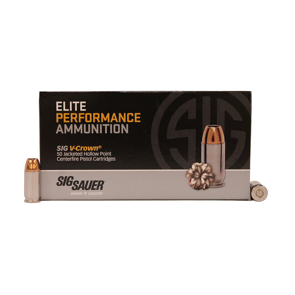 45ACP, 230GR, ELITE V-CROWN, JHP, BOX-50
