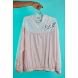 Nylon track jacket Peach