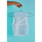 Kick butt crop top Baby blue