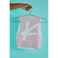 Kick butt crop top Light Pink