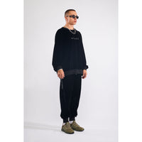 Stuff velour sweatshirt black