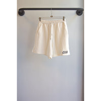 French terry shorts white