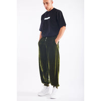 Stuff velour sweatpants army green