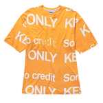 WordArt no credit t-shirt orange
