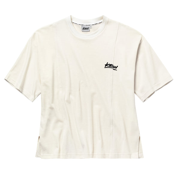 Split box t-shirt beige