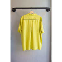 Vacation shirt yellow Linen