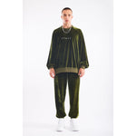 Stuff velour sweatshirt army green