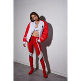 High bomber Red/white