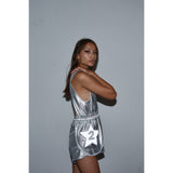 Tiny star jumpsuit Silver