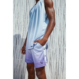 Gradient basketball shorts cyan/purple