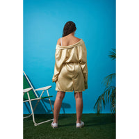 Boyfriend dress Gold