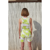 Athlete short leggings lime green