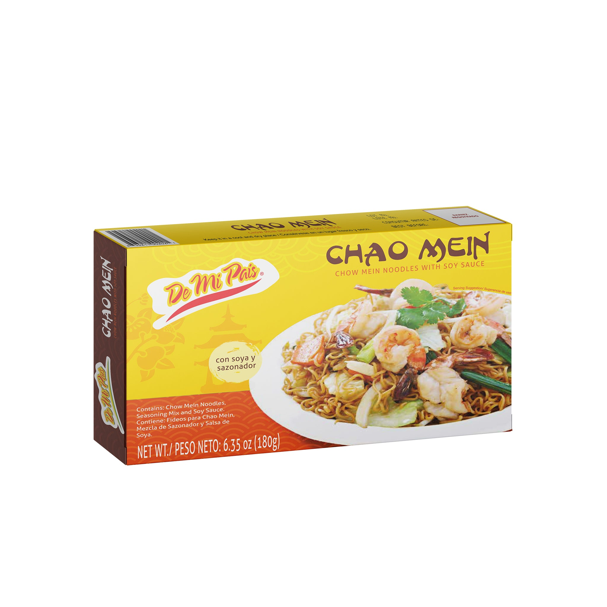 Small Chao Mein Noodles / Chow Mein con Salsa Soya Pequeña 12-Pack