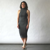 nikibiki _ mock neck dress _ seattle _ velouria _ black stripe .jpg