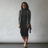 nikibiki _ mock neck dress _ seattle _ velouria _ black stripe _ erdaine cardigan.jpg
