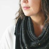 argaman & Defiance _ velouria _ blanket scarf _ black with gold speckles 1.jpg