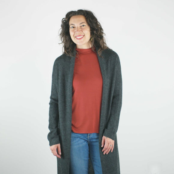 erdaine _ made in vancouver canada _ velouria _ seattle _ grace cardigan _ charcoal _ wool 1.jpg