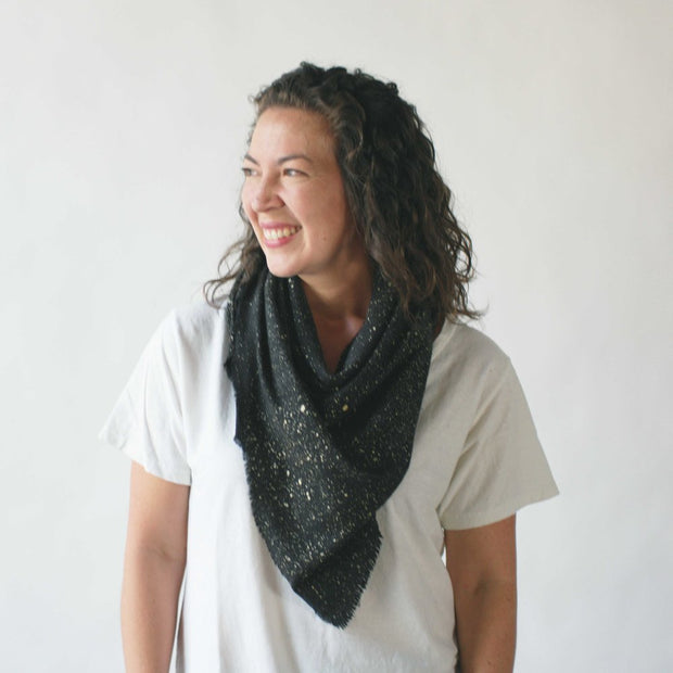 argaman & Defiance _ velouria _ blanket scarf _ black with gold speckles 3.jpg