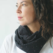 argaman & Defiance _ velouria _ infinity scarf _ black with rose gold speckles .jpg