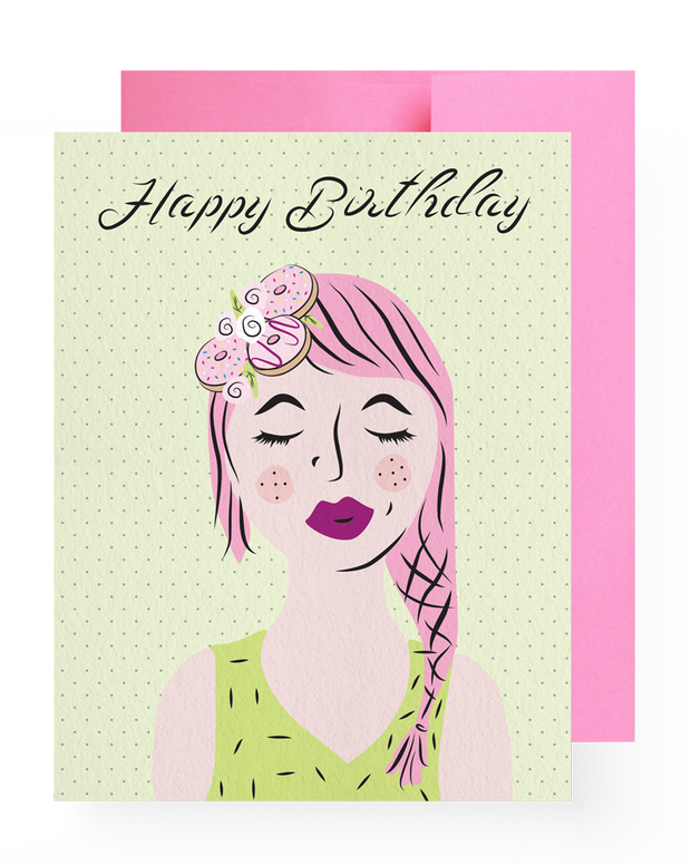 BD Greeting Cards, Donut Crown Birthday