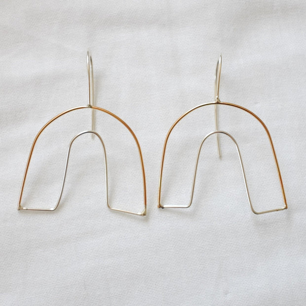 The Arch Earring, 14k Goldfill + Sterling Silver