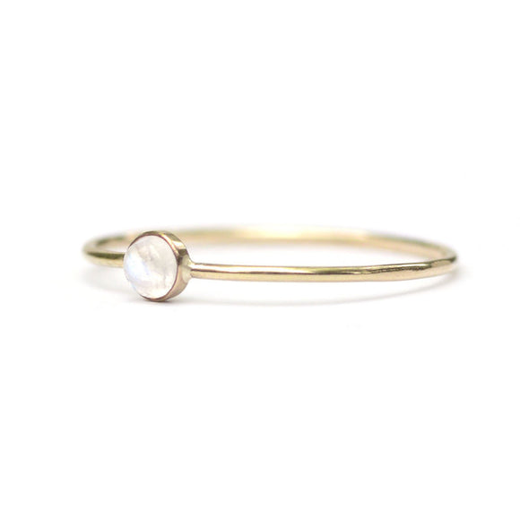 Micro Dot Ring, Moonstone