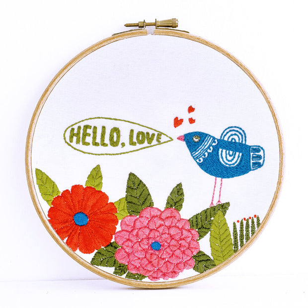 Embroidery Kit, Hello