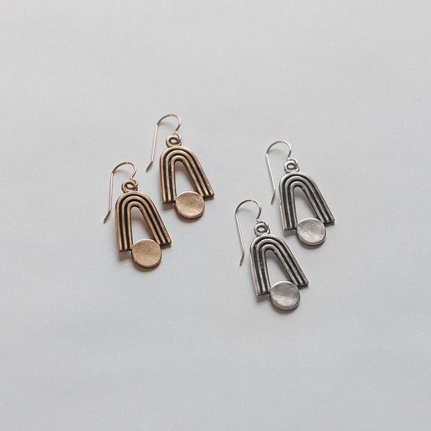 Highbow Earrings, Sterling Silver