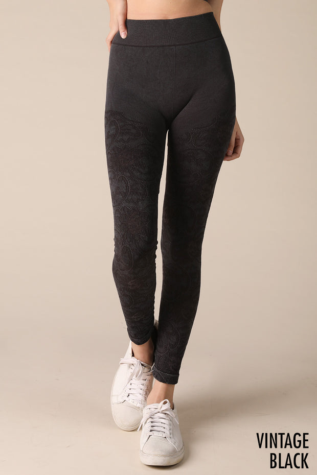 Lace Bella Leggings, Vintage Black